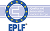 EPLF Logo Warenkennzeichnung Blau